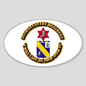 COA - 54th Infantry Regiment Sticker (Oval)