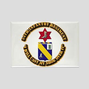COA - 54th Infantry Regiment Rectangle Magnet