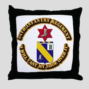 COA - 54th Infantry Regiment Throw Pillow