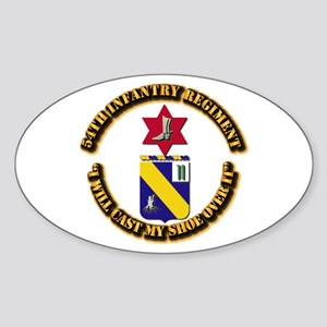 COA - 54th Infantry Regiment Sticker (Oval)