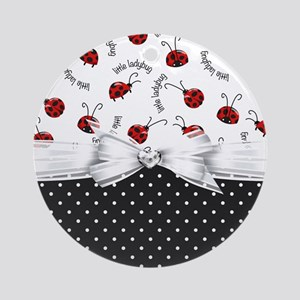 Little Ladybugs Ornament (Round)