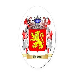 Boscari Oval Car Magnet