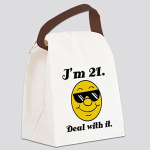 21st Birthday Deal With It Canvas Lunch Bag