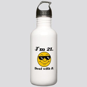 21st Birthday Deal With It Stainless Water Bottle