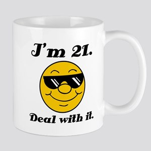 21st Birthday Deal With It Mug