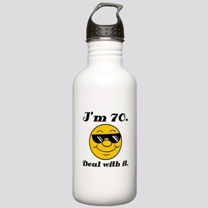70th Birthday Deal With It Stainless Water Bottle