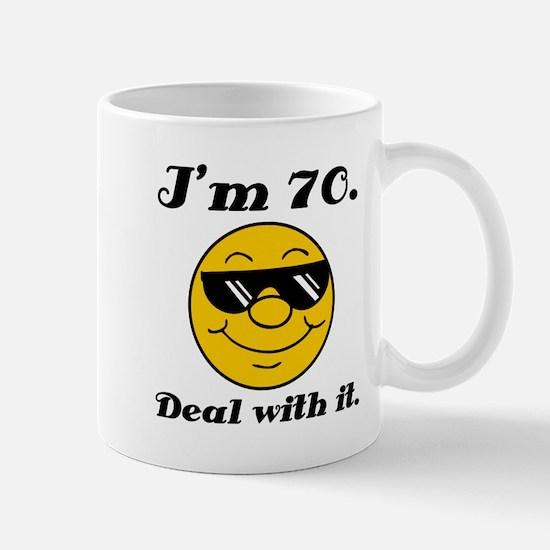 70th Birthday Deal With It Mug