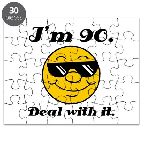 90th Birthday Deal With It Puzzle