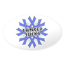 Stomach Cancer Sucks Sticker (Oval)