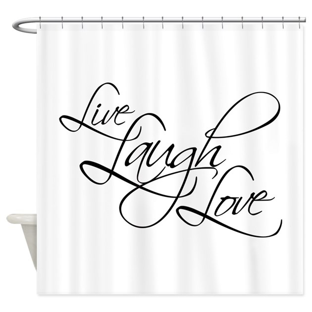 Live Laugh Love Shower Curtain By Fixtheworld