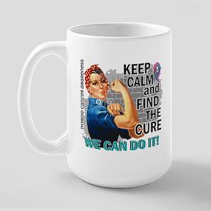 Rosie Keep Calm Thyroid Cancer Large Mug