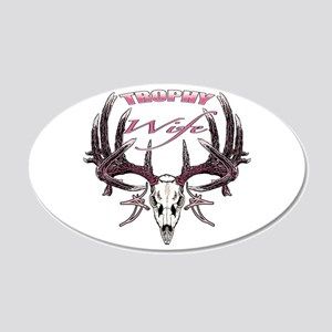 Trophy Wife pink 20x12 Oval Wall Decal