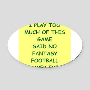 fantasy football Oval Car Magnet