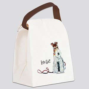 Fox Terrier Walk Canvas Lunch Bag