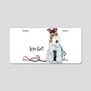 Fox Terrier Walk Aluminum License Plate