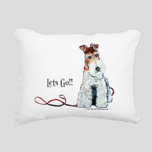 Fox Terrier Walk Rectangular Canvas Pillow