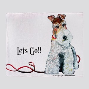 Fox Terrier Walk Throw Blanket