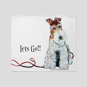 Fox Terrier Walk Throw Blanket