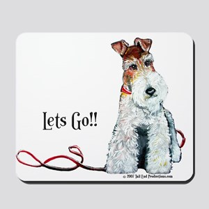 Fox Terrier Walk Mousepad