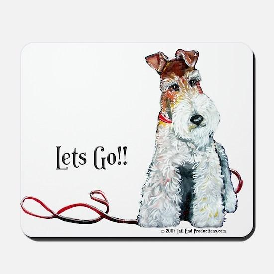 Fox Terrier Walk Mousepad