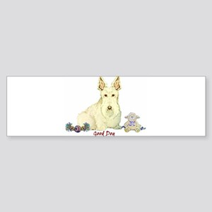 """Good Dog"" Wheaten Scottie Bumper Sticker"