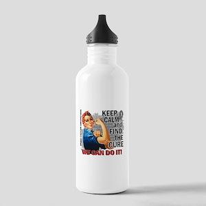 Rosie Keep Calm Brain Cancer Stainless Water Bottl
