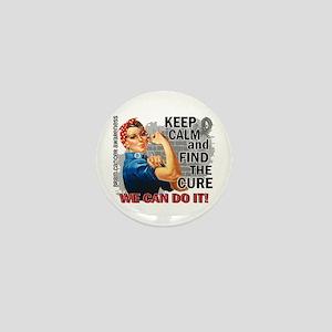 Rosie Keep Calm Brain Cancer Mini Button