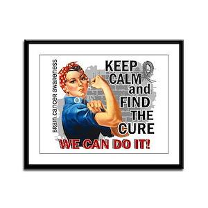 Rosie Keep Calm Brain Cancer Framed Panel Print