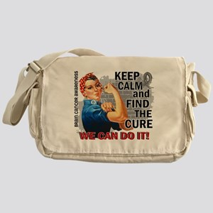 Rosie Keep Calm Brain Cancer Messenger Bag