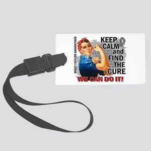 Rosie Keep Calm Brain Cancer Large Luggage Tag