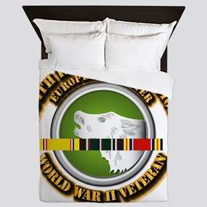Army - WWII - 104th INF Div Queen Duvet