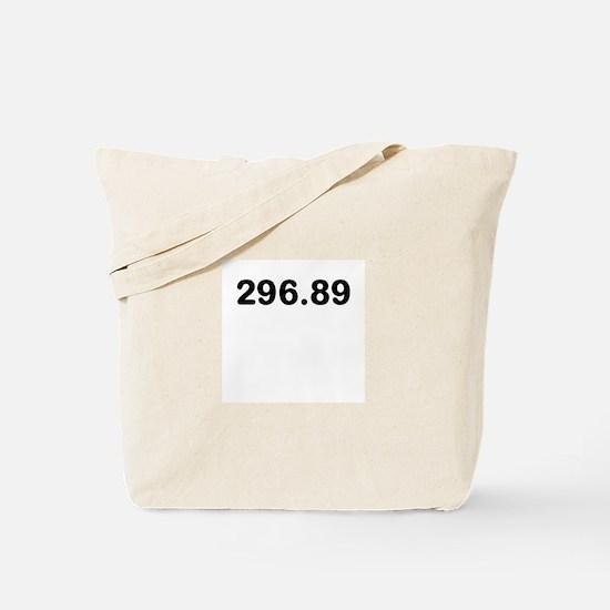 296.89 Tote Bag