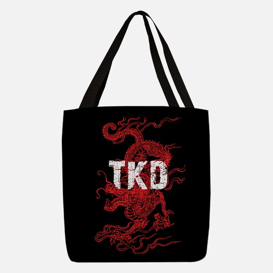 TKD Dragon Polyester Tote Bag