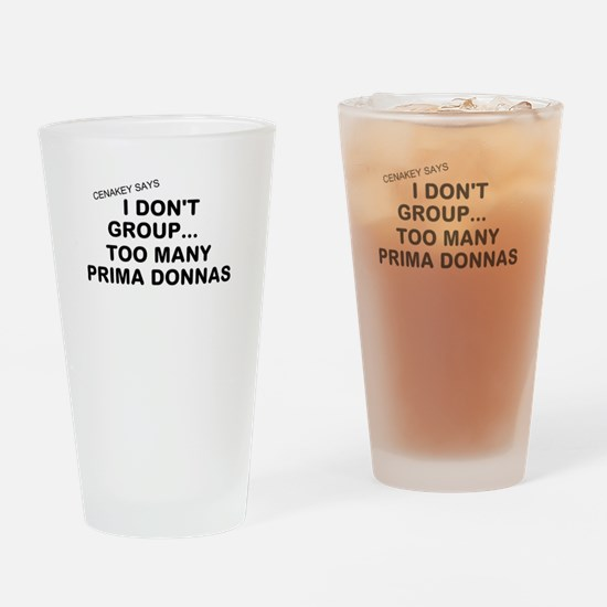 Cute Prima donna Drinking Glass