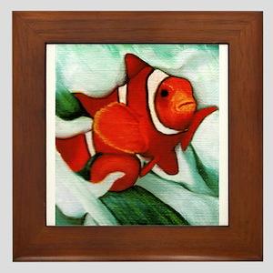 clown fish Framed Tile
