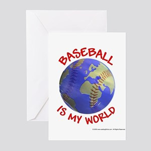 Baseball is my World Greeting Cards (Pk of 10)
