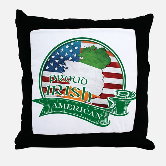 Proud Irish American Throw Pillow