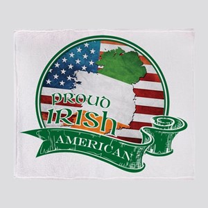 Proud Irish American Throw Blanket