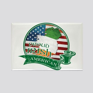 Proud Irish American Rectangle Magnet