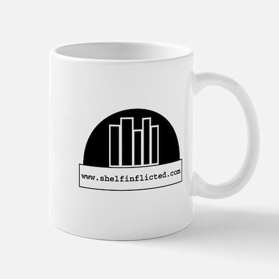 Shelf Inflicted BW Mug