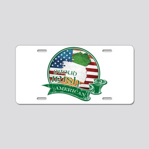 Proud Irish American Aluminum License Plate