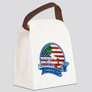 Proud Italian American Canvas Lunch Bag