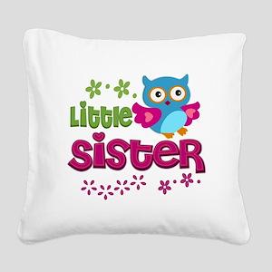 Little Sister Square Canvas Pillow