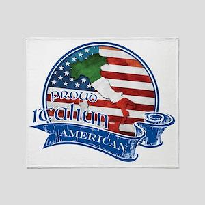 Proud Italian American Throw Blanket