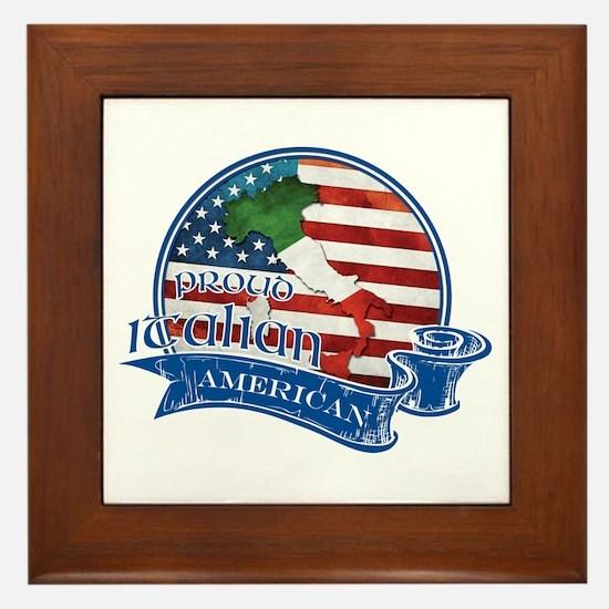 Proud Italian American Framed Tile