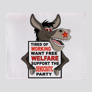 WELFARE DEMOCRATS Throw Blanket