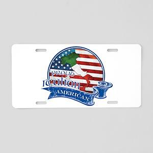 Proud Italian American Aluminum License Plate