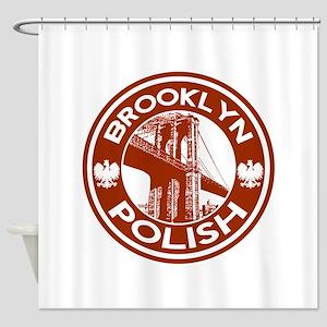 Brooklyn New York Polish Shower Curtain