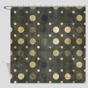 Grunge Dots Shower Curtain