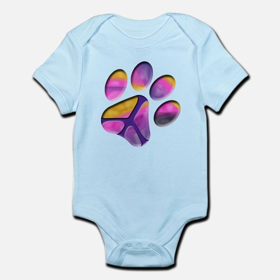 Peaceful Paw Print Body Suit
